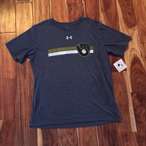 Under Armour Brewers T-Shirt (Size Large) - NWT